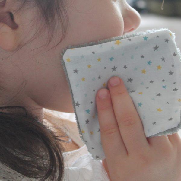 lingette visage-bebe-enfant-coton biologique-bambou-etoile