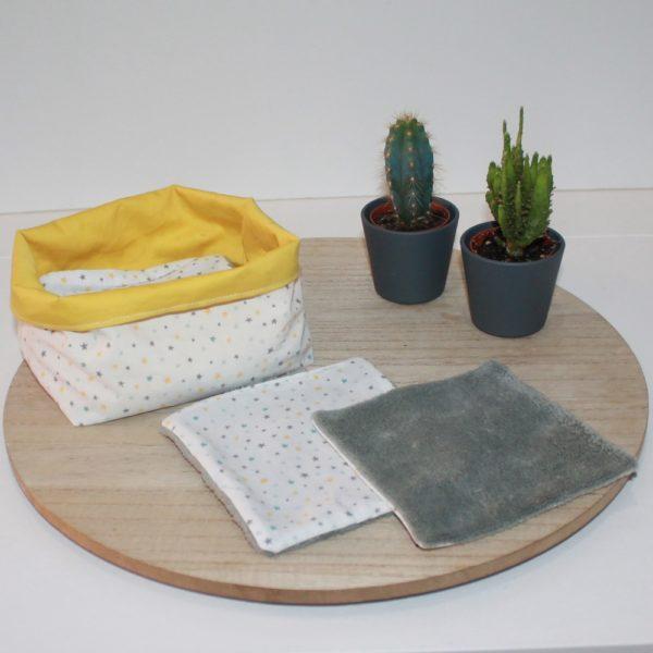 lingette -coton biologique-bebe-bambou-etoile