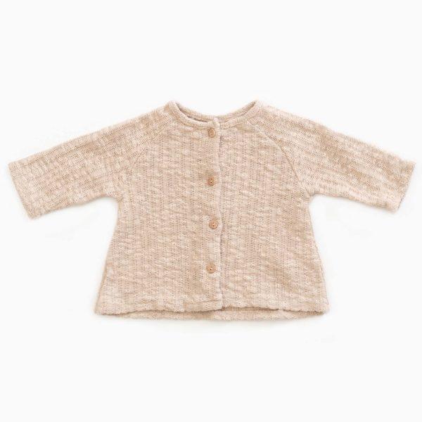 Saison des Abeilles Vetements enfants Habillement bebe coton biologique - bebe - enfant - fille - gilet a volants ecru (1)