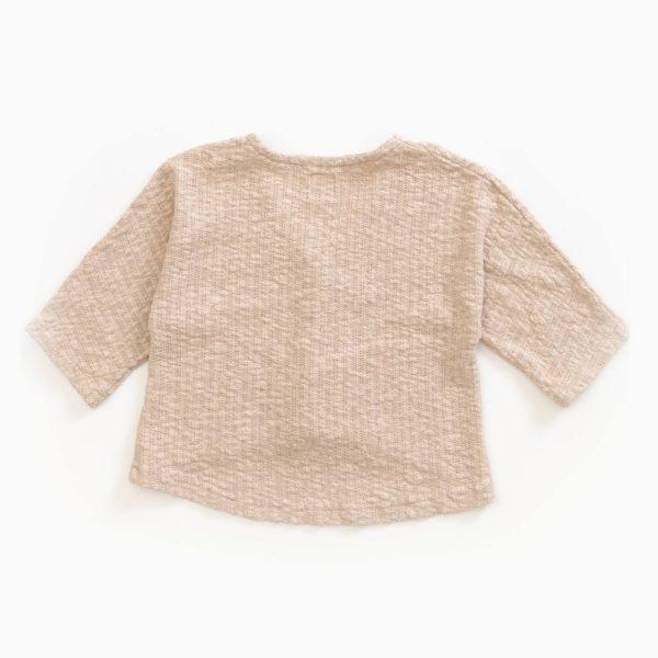 Saison des Abeilles Vetements enfants Habillement bebe coton biologique - enfant - fille - gilet beige