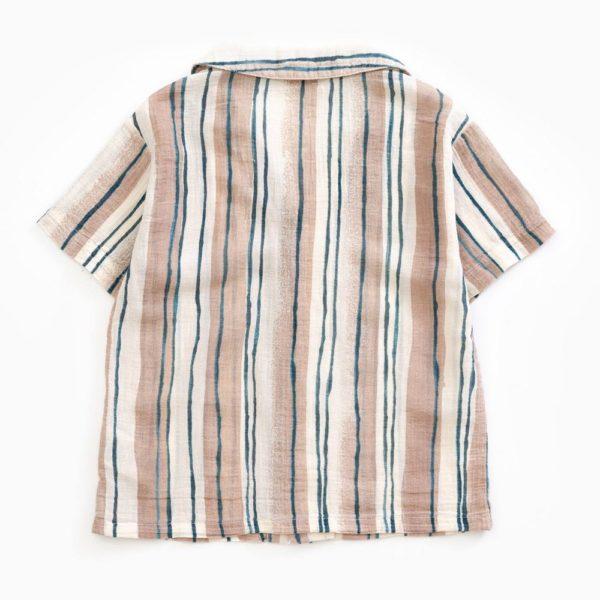 Saison des Abeilles Vetements enfants Habillement bebe coton biologique - garcon -chemisette à rayures