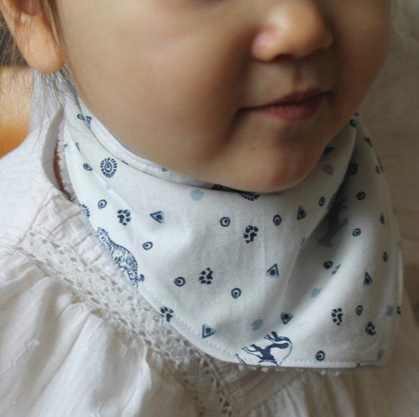 Saison des Abeilles bavoir coton biologique - bebe - bandana animaux