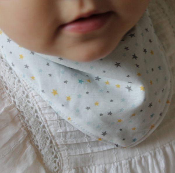 Saison des Abeilles bavoir coton biologique - bebe - bandana etoile