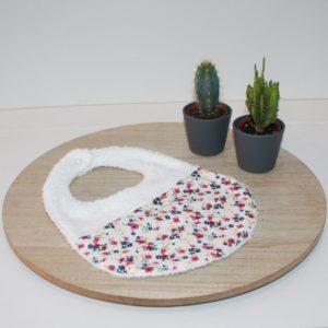 Saison des Abeilles bavoir coton biologique - bebe - bavette eponge fleur