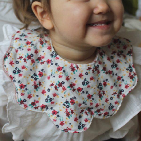Saison des Abeilles bavoir coton biologique - bebe - bavette fleur