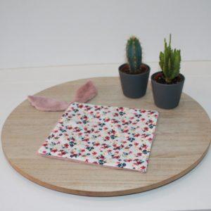 Saison des Abeilles doudou coton biologique -Bambou - bebe - doudou lapin - Fleur 1