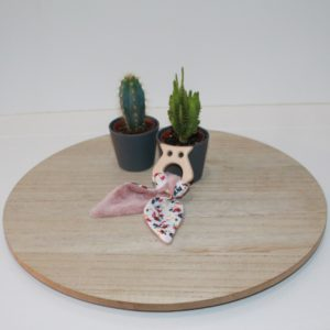 Saison des Abeilles hochet coton biologique -Bambou - bois -bebe - anneau de dentiton- oreille - hibou 4