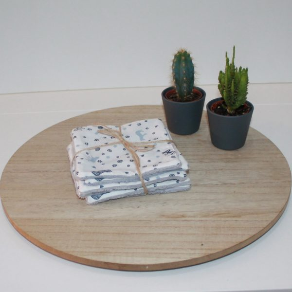 Saison des Abeilles- lingette fesse- coton biologique -Bambou -bebe - lot suplementaire animaux