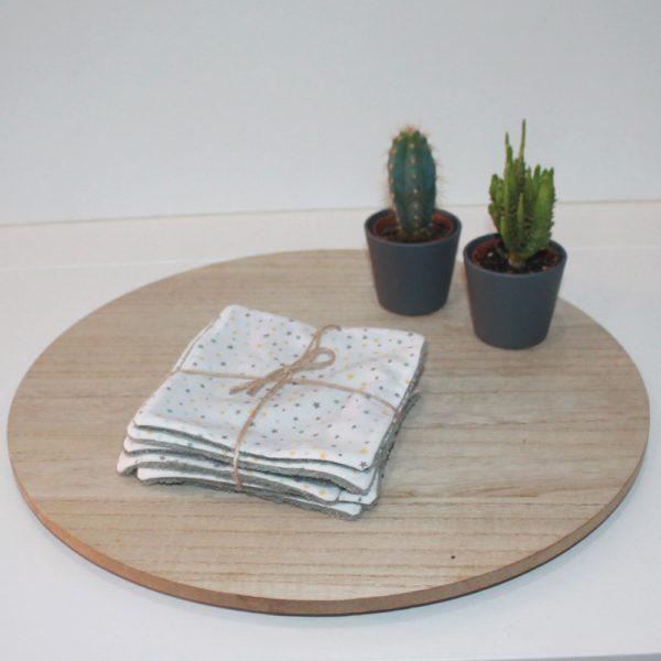 Saison des Abeilles- lingette fesse- coton biologique -Bambou -bebe - lot suplementaire etoile