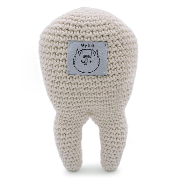 Saison des abeilles Boite a dent Peluche coton bio bebe enfant Hochet