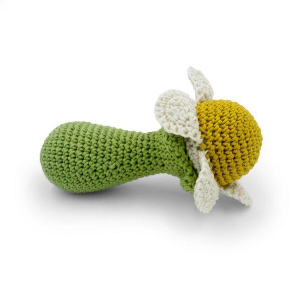 Saison des abeilles Jouet Peluche coton bio bebe enfant Hochet fleur grelot