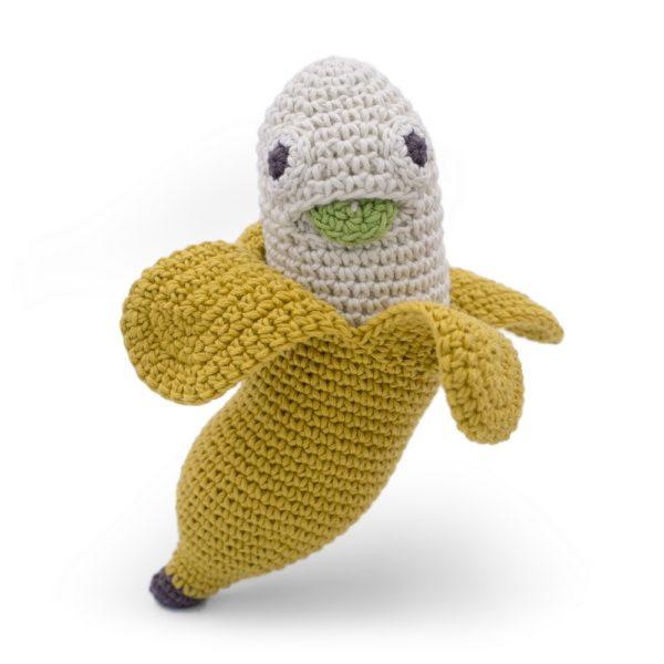 Saison des abeilles Jouet Peluche coton bio bebe enfant fruit banane