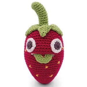 Saison des abeilles Jouet Peluche coton bio bebe enfant fruit fraise