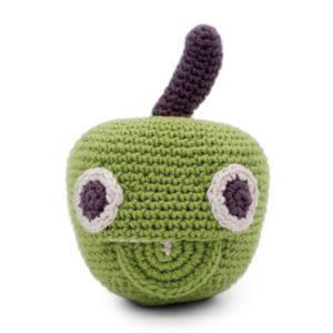 Saison des abeilles Jouet Peluche coton bio bebe enfant fruit pomme