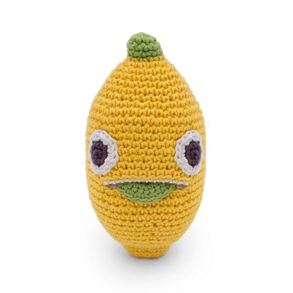 Saison des abeilles Jouet Peluche coton bio bebe enfant hochet grelot fruit citron