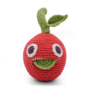 Saison des abeilles Jouet Peluche coton bio bebe enfant hochet grelot fruit clementine