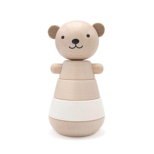 aison-des-abeilles-Jouet-ecologique-en-bois-bebe-enfant-ours-empilable-blanc