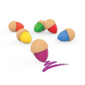 Saison des abeilles Jouet ecologique en liege - jouet en liege - crayons de couleur