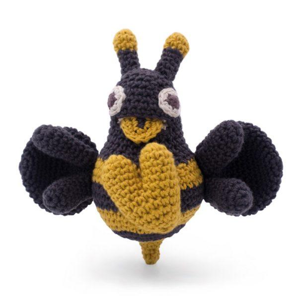 Saison des abeilles Jouet vibrant Peluche coton bio bebe enfant abeille