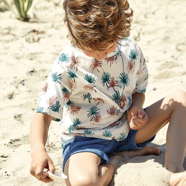 Saison des abeilles Vetements enfants coton bio enfant beige t-shirt enfant garcon