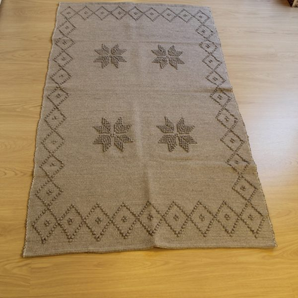 tapis-eco-responsable-fait main-made in europe-recyclé-gris