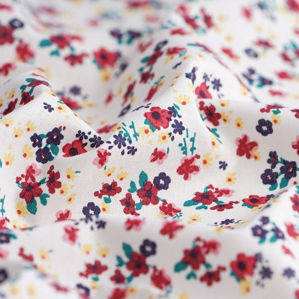 Tissu coton biologique -motifs liberty - Saison des abeilles