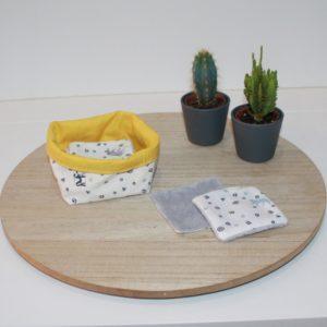 lingette visage- coton biologique -Bambou -bebe - animaux toilette