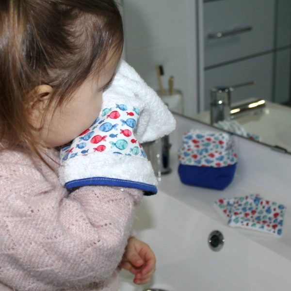saison des abeilles-gant-toilette poisson-zero dechet coton bio