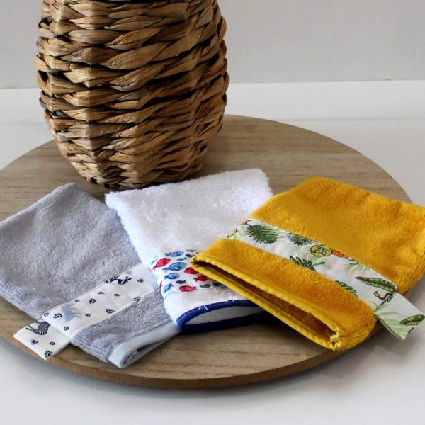 saison des abeilles-gants de toilettes-zero dechet-ecoresponsable coton bio bambou